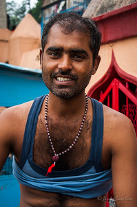 An Indian man in Rishikesh