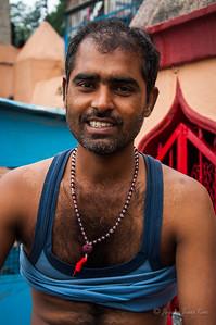 An Indian man in Rishikesh