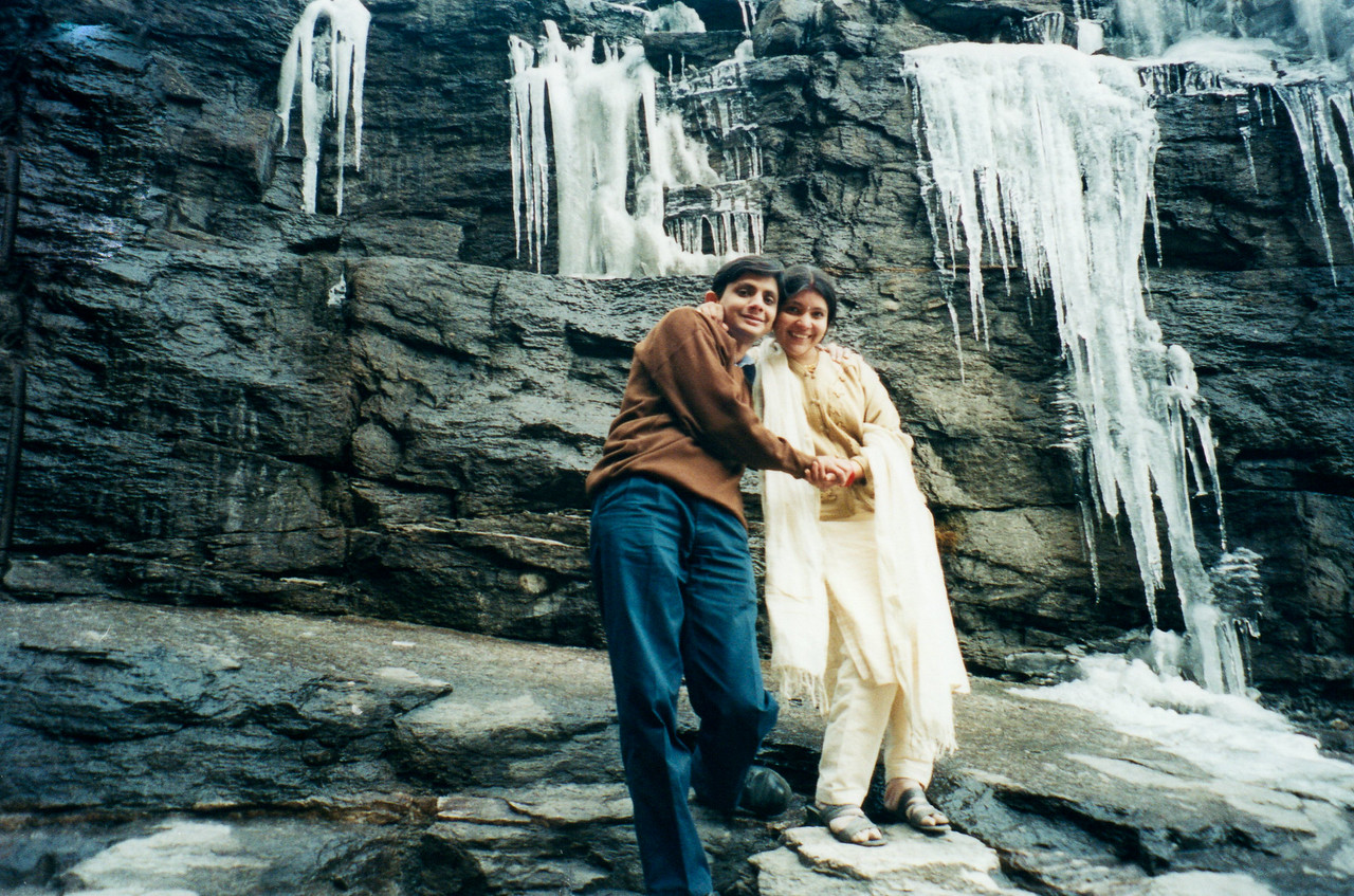 At Frozen Waterfall on the way to At Rohtang Pass