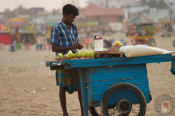 Beach in Chennai south India  : India