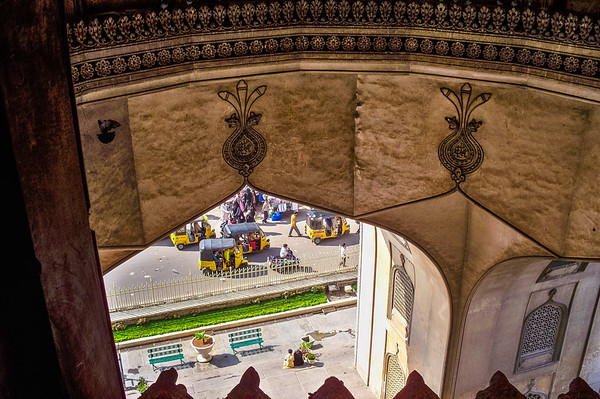 View from the Char Minar - Hyderabad, India