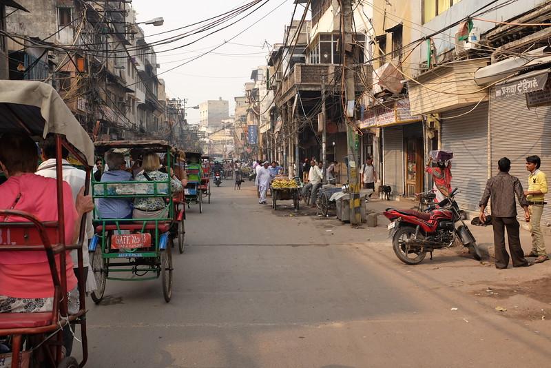 A Street in Old Delhi's Chandni Chowk