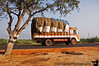 April 23, 2006 - On the road in Tamil Nadu. a typical scene here with the trucks passing by.