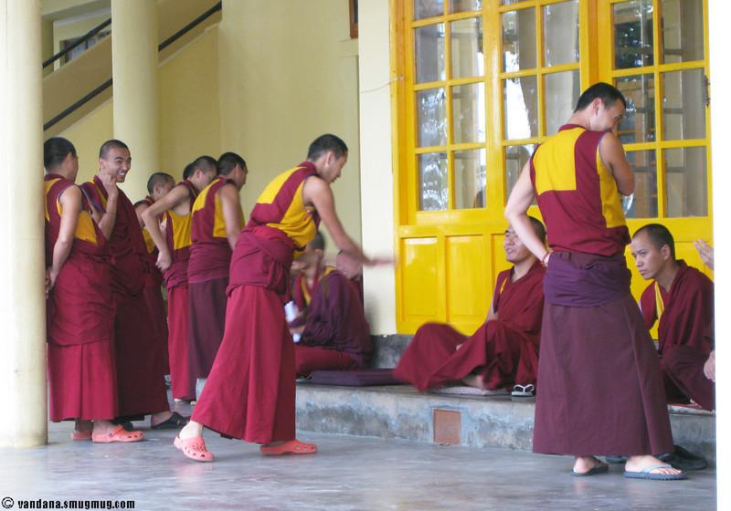 Monks at Dharamsala