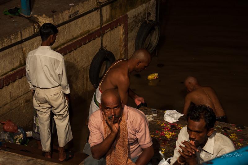 Bathing Dashashwamedh Ghat in the Ganges