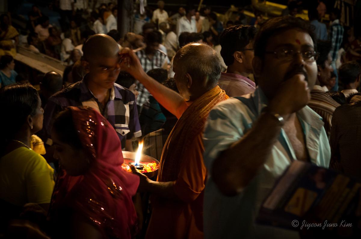 Visiting Dashashwamedh Ghat in Varanasi, India