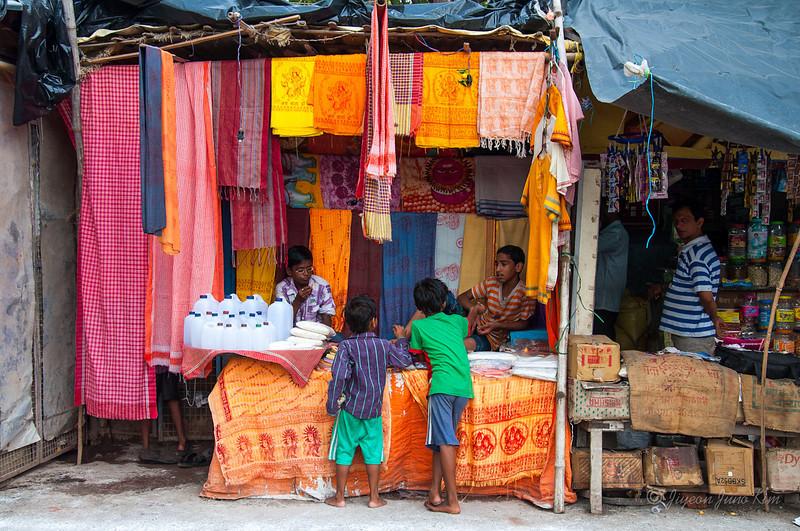 A local store at Varanasi, India