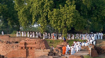 Pilgrims at Sarnath