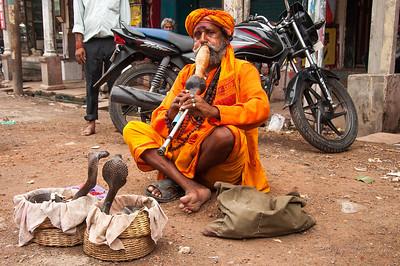 Snake charmer in Varanasi, India