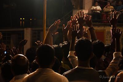 Ceremony at Dashashwamedh Ghat, Varanasi, India