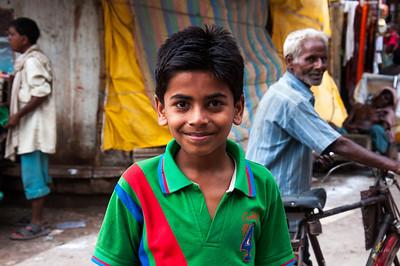 A boy at Varanasi, India