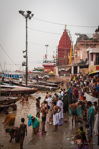 Bathing in the Ganges River
