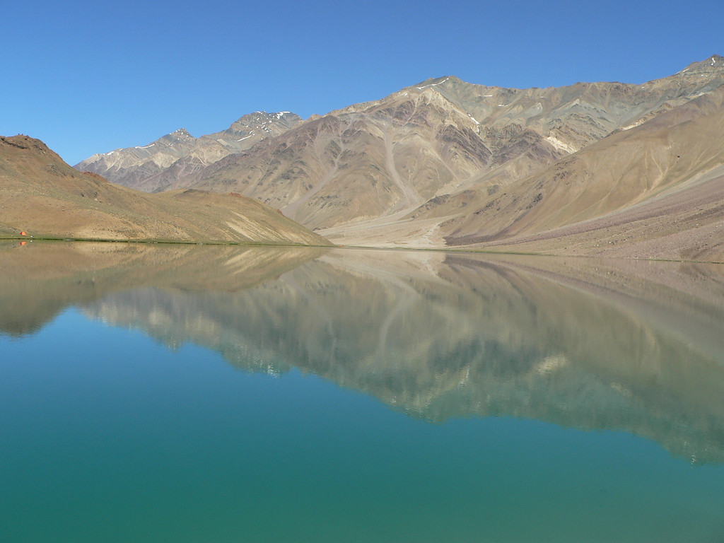 Lake Chandratal (4270 m). Also called 'Moon Lake'.