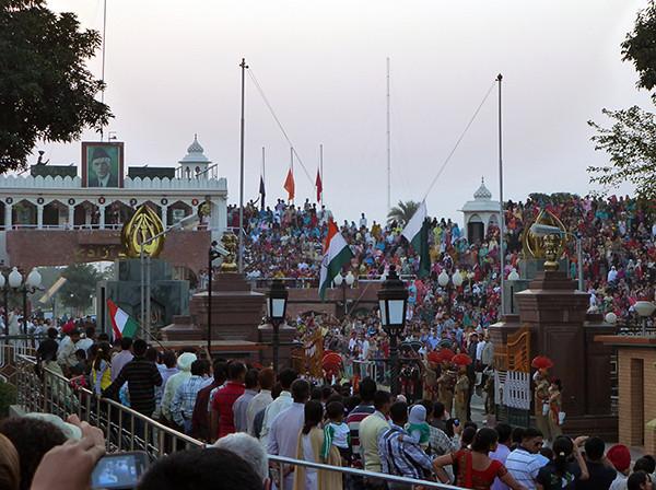 Border ceremony, Wagah, India (3)