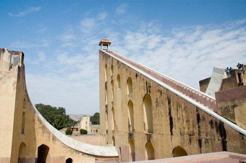 The enormous sundial in Jaipur