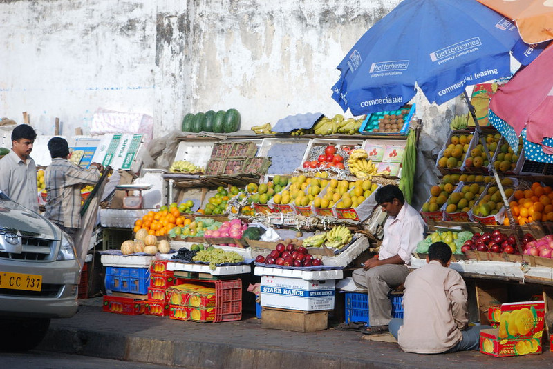 Street vendors in Mumbia.