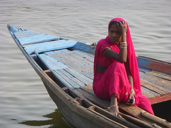 Woman in Boat (Varanasi)