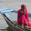 Woman in Boat (Varanasi)