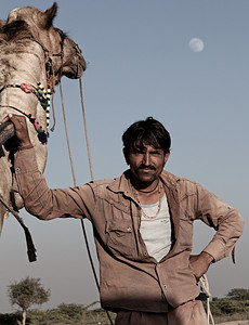Camel Driver. Rajasthan, India.