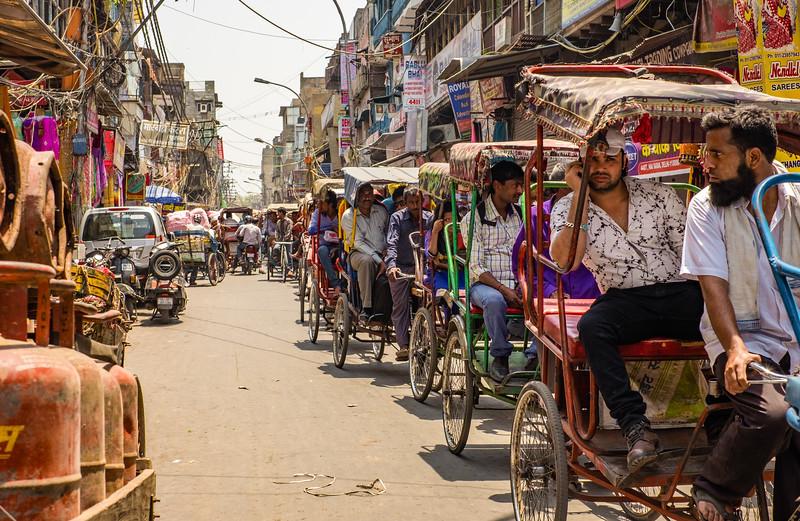 Pedicab Traffic Jam
