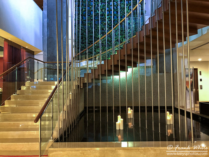 Staircase in the Westin Mindspace hotel in Hyderabad