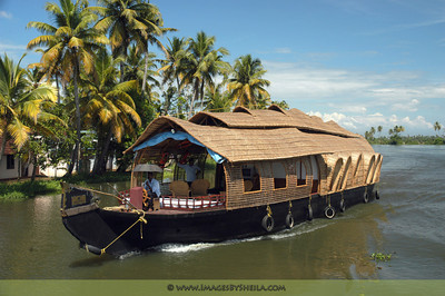 Typical houseboat in Alappuzha (Allepey), Kerala