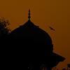 A temple near the Taj Mahal at dawn