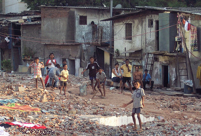 Cricket in the slum