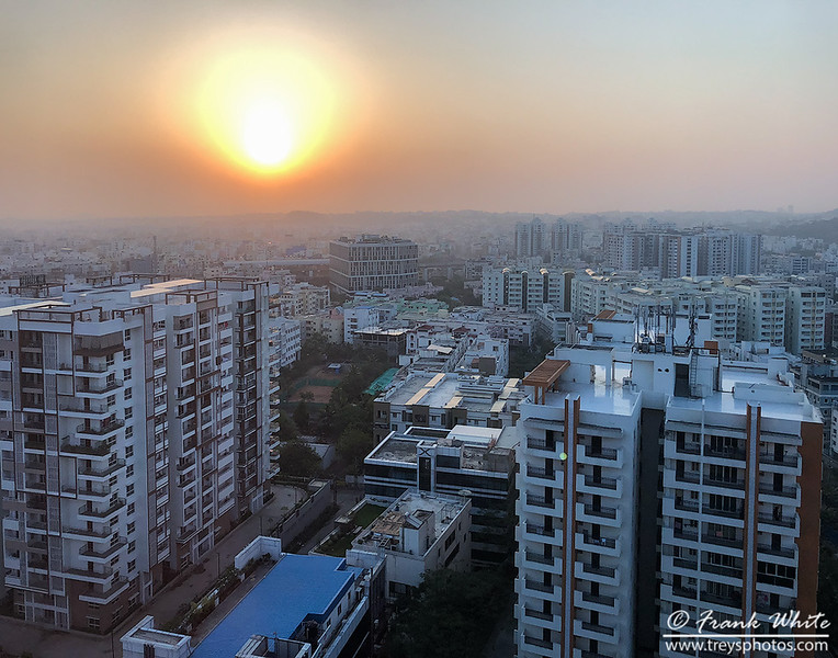 Hazy Hyderabad sunrise
