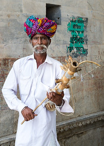 Udaipur Musician with Instrument