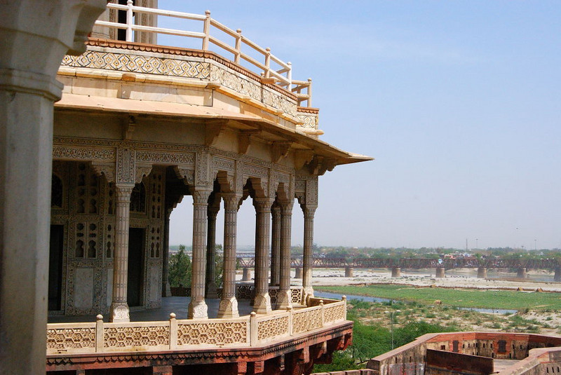 Balcony at the Red Fort, Agra.