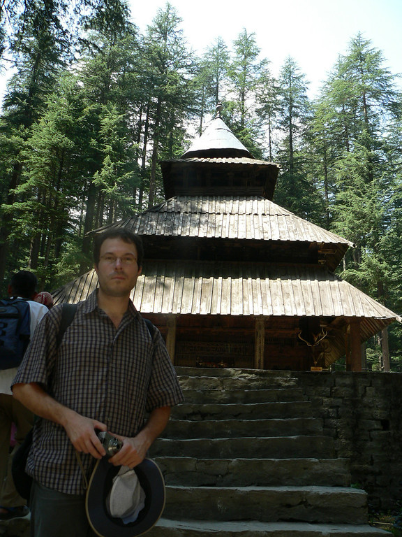 Thanasis at Hadimba temple Manali