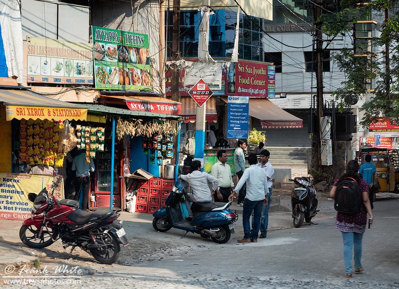 Street life in Hyderabad