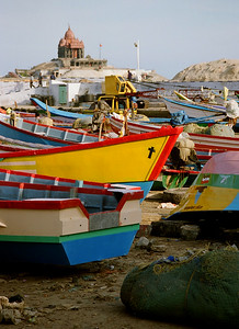 Boats in Kanyakumari, India 2006