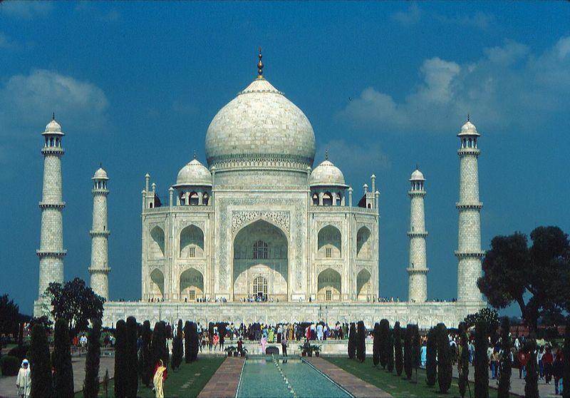 The Taj Mahal. Nikon F90x, AF Nikkor zoom 35-70mm. Fuji Velvia.