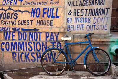 Blue Bike in the Blue City.  Jodhpur, India.