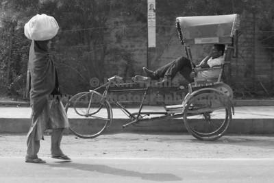 woman & rikshaw