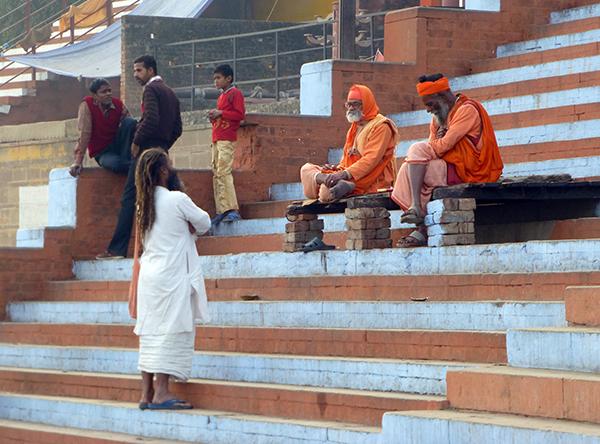 Holy Men at Kedar Ghat (Varanasi)