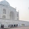Women visit the Taj Mahal