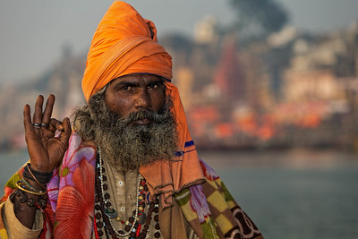 Sadhu on the Ganges (Varanasi, India)