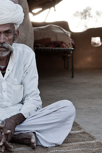Rajasthani Farmer at his homestead.