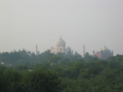. . . also overlooked the Taj Mahal. Hard to beat that view.