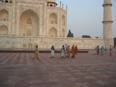 The west side of the Taj Mahal.