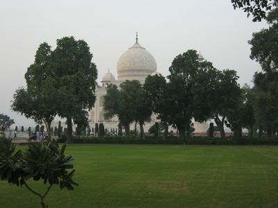 The Taj Mahal from the gardens.