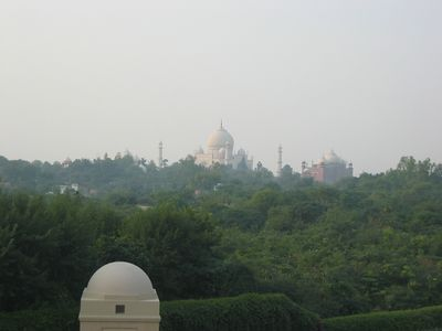 The hotel is a half-mile from the Taj Mahal because the city of Agra no longer allows gasoline-powered vehicles to operate beyond that point. From our hotel each day we took an electric bus to the gates of the tomb.