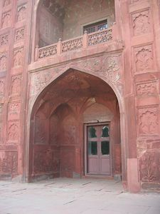 Red Fort rear of the gate and wall
