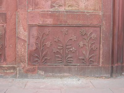 Red Fort detail. This was once all inlaid with precious and semi-precious stones
