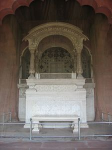 Red Fort Throne in the Public Court