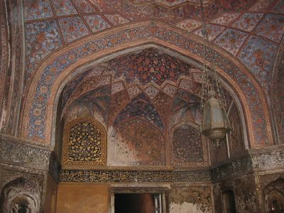 Akbar's Tomb in Sikandara. Much of the inlay here was either saved or is being restored.
