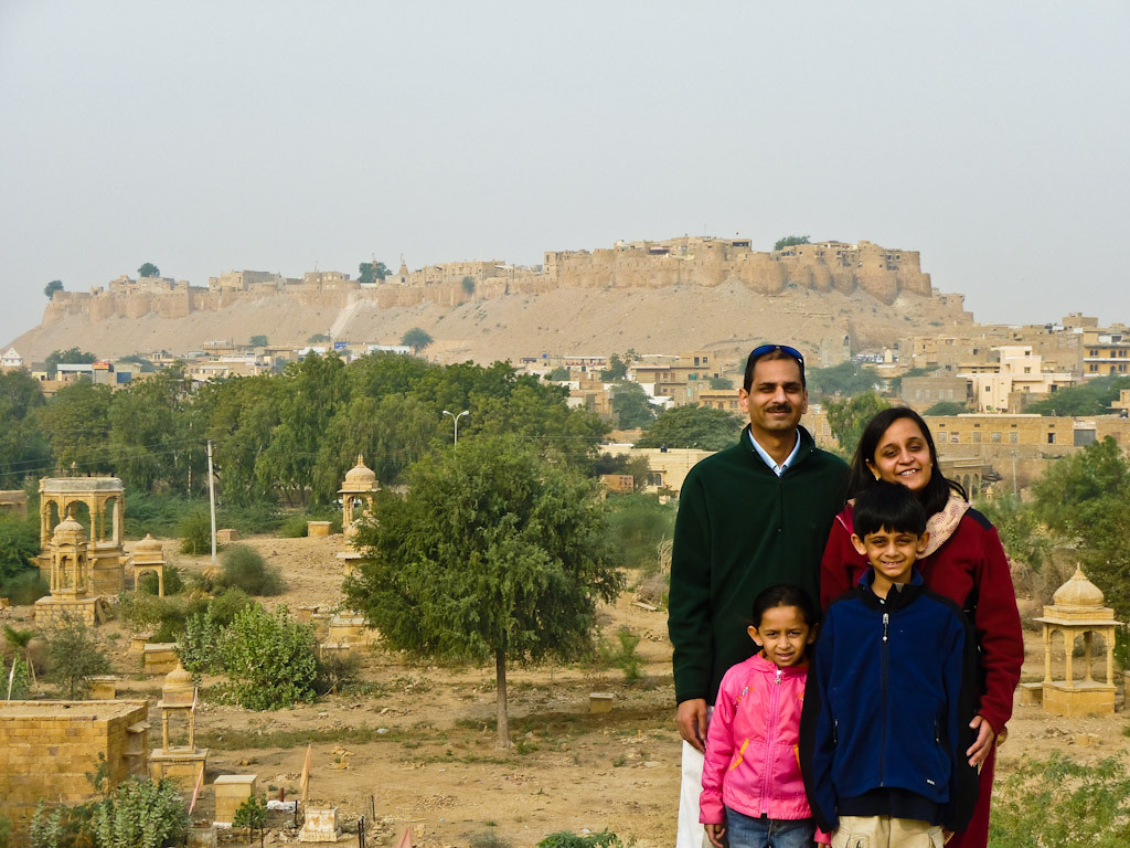 Taken outside the lake, Sonar Kella (The Golden Fortress) on the hill, 3000 familes today still live inside that fort. Including our guide. Jaisalmer